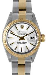 Rolex Rolex DateJust Two Tone Oyster White Stick Dial Watch 6917
