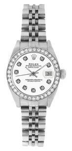Rolex Rolex DateJust Two Tone Silver Diamond Ladies Watch 69173