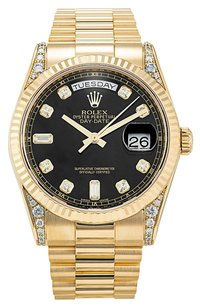 Rolex ROLEX DAY-DATE 118338 18K YELLOW GOLD MEN'S PRESIDENTIAL WATCH