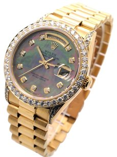 Rolex Rolex Day-Date 18038 18K Custom Diamond Men's Presidential Watch (SQ)