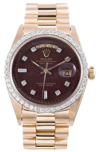 Rolex Rolex Day-Date 18K Yellow Gold Custom Diamond Men's Presidential Watch