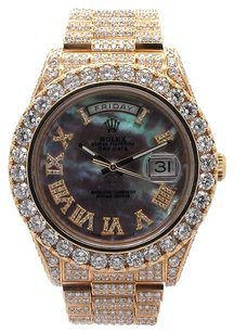 Rolex ROLEX Day-date II Presidential 18K YG 30ct Custom Diamond