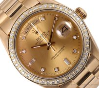 Rolex Rolex Day Date President 18k Gold-Champagne Diamond Dial & Bezel