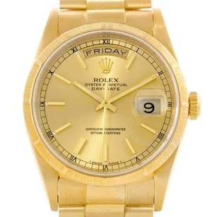Rolex Rolex Day Date President Mens 18k Yellow Gold Watch 18248
