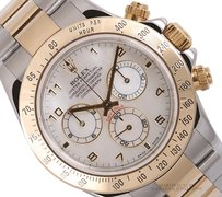 Rolex Rolex Daytona 18k Two Tone/SS-40mm-White MOP Dial-18k Gold Bezel-11652