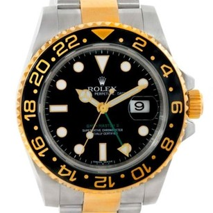 Rolex Rolex Gmt Master Ii Mens 18k Gold Steel Watch 116713