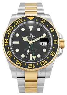 Rolex Rolex GMT Master II Stainless Steel 18K Yellow Gold Mens Watch 116713 LN