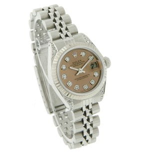 Rolex Rolex Ladies Datejust 6917 Salmon Dial-Original Rolex Fluted Bezel
