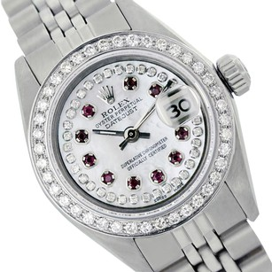 Rolex Rolex Ladies Datejust 6917 String White MOP with 10 Ruby and Diamonds