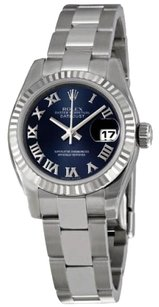 Rolex Rolex Ladies DateJust Blue Roman Dial Stainless Steel Oyster Watch 179174