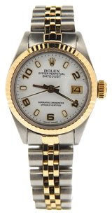 Rolex Rolex Ladies DateJust Two Tone White Arabic Dial Watch 6917