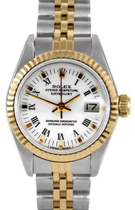 Rolex Rolex Ladies DateJust Two-Tone White Roman Dial Watch 6917
