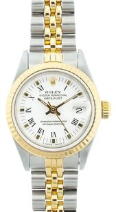 Rolex Rolex Ladies DateJust Two-Tone White Roman Dial Watch 69173