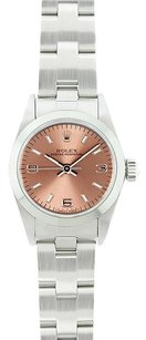 Rolex Rolex Ladies Oyster Perpetual Midsize Salmon Arabic Dial Watch 67480