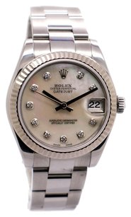 Rolex Rolex DateJust 178274 Stainless Steel Custom Diamond Unisex Watch