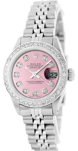 Rolex Rolex Lady Datejust Stainless Steel and 18K White Gold Ice Pink Diamond Watch