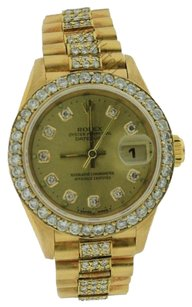 Rolex Rolex Lady President 18K Champagne Dial Diamond Watch