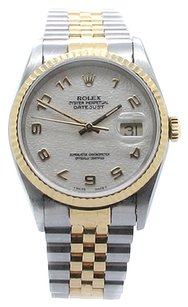 Rolex Rolex Datejust 18K Yellow Gold and Stainless Steel Ivory Jubilee Dial Men's Watch
