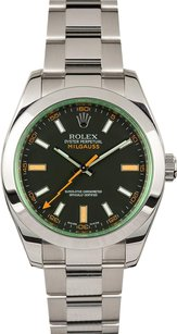 Rolex Rolex Men's Milgauss Stainless Steel Green Dial Watch 116400