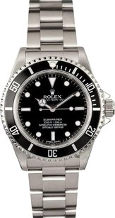 Rolex Rolex Men's Submariner Stainless Steel Black Dial No Date Watch 14060