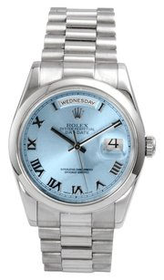 Rolex Rolex Platinum Day Date President With Ice Blue Dial