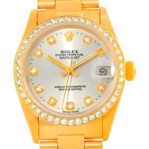 Rolex Rolex President Datejust Midsize 18k Gold Diamond Watch 68278