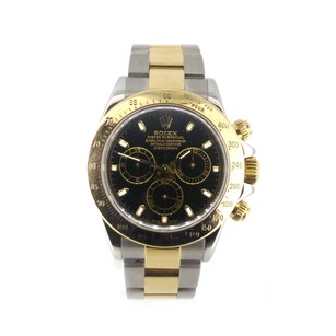 Rolex Rolex ROLEX 18K/SS BLACK CHRONOGRAPH DIAL MEN'S WATCH