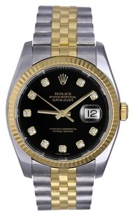 Rolex Rolex Datejust Stainless Steel and 18K Yellow Gold Custom Diamond Men's Watch