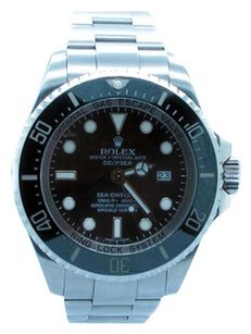 Rolex Rolex Deep Sea-Dweller Stainless Steel Black Dial Men's Watch