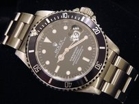 Rolex Rolex Stainless Steel Submariner Date Watch Sub With Black Dial Bezel 16610