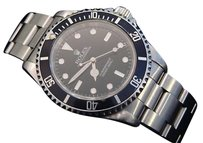 Rolex Rolex Stainless Steel Submariner No Date Watch Black Dial Bezel Sub 14060