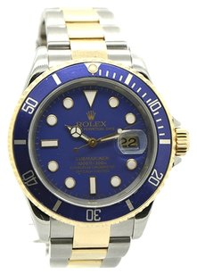 Rolex Rolex Submariner 16613 18K Yellow Gold and Steel Blue Dial Men's Watch
