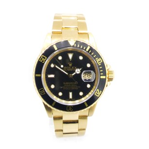 Rolex Rolex Submariner 18k Yellow Gold Black Dial Watch