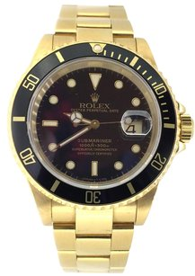 Rolex Rolex Submariner Black Dial 18k Gold Oyster Watch 1107043