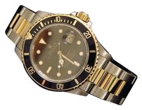 Rolex Rolex Two-tone 18k Goldstainless Steel Submariner Date Watch Black Sub 16803