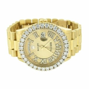 Rolex Rolex Day Date I Watch Mens 18k Gold 5.75 Carat Diamond Classy Look