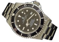 Rolex Mens Rolex Sea-dweller Date Stainless Steel Watch W Black Dial 16600