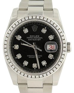 Rolex Rolex Watch Datejust 116200 1.00ctw Vs Diamond Bezel Oyster Box Papers Mint