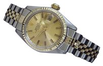 Rolex Rolex Date Ladies Two-tone 14k Gold Stainless Steel Watch Jubilee Champagne 6917