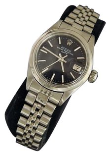Rolex Rolex Oyster Perpetual Date Ladies Stainless Steel Watch Jubilee Black Dial 6916