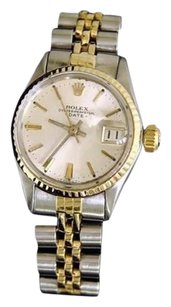 Rolex Vintage Rolex Date Ladies 2tone 14k Yellow Gold Steel Watch Jubilee Silver 6517
