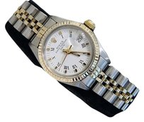 Rolex Rolex Date Lady 2tone 14k Gold Steel Watch Jubilee Band White Roman Dial 6917