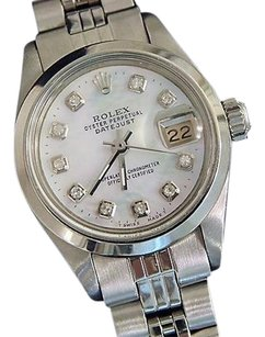 Rolex Rolex Datejust Ladies Stainless Steel Watch White Mop Diamond Dial Jubilee Band