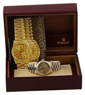 Rolex Rolex President 18238 Mens Watch Oyster Day Date 18k Yellow Gold Diamond Dial