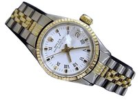 Rolex Vintage Rolex Date Ladies 2tone 14k Gold Steel Watch Jubilee White Dial 6517