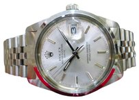 Rolex Mens Rolex Oyster Perpetual Date 34mm Ref 15000 Stainless Steel Watch C. 1988