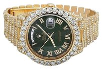 Rolex Mens Rolex Day-date Ii 18k 40mm President 228238 Yellow Gold Diamond Watch 22.5