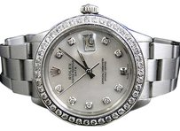 Rolex Mens Stainless Steel Rolex Datejust 1 Watch With 2.15 Ct Diamond Mop Dial