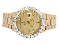 Rolex 18k Mens Yellow Gold Rolex Presidential Day-date 40mm Prong Diamond Watch Ct