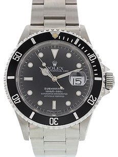 Rolex Mens Rolex Submariner Date Ss 16610 W Box Papers